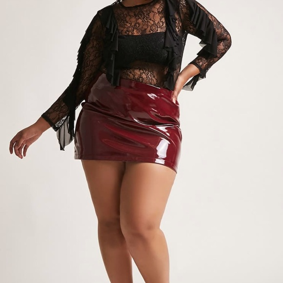 Forever 21 Skirts | Plus Size Faux Leather Skirt | Poshmark